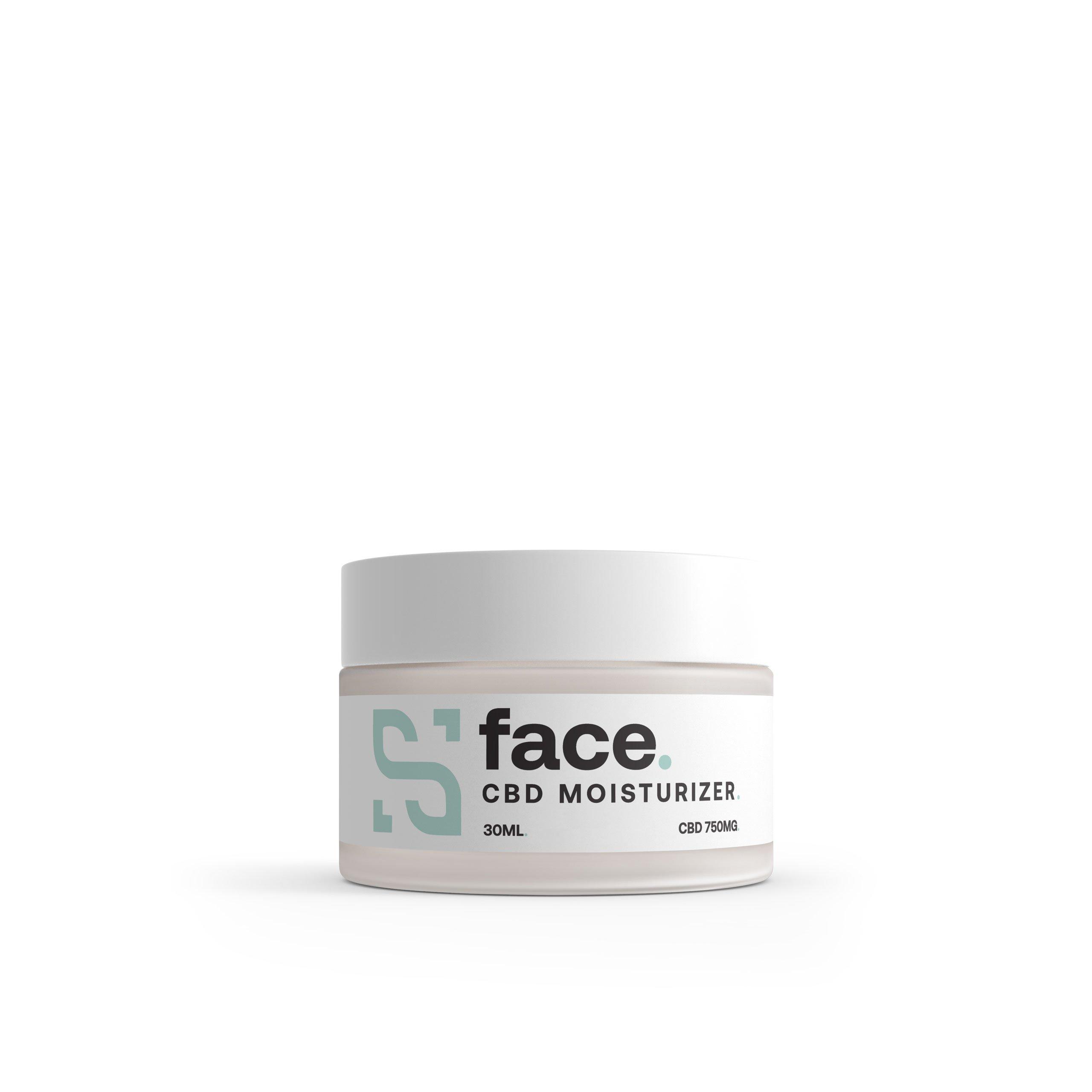 CBD face moisturizer balm jar